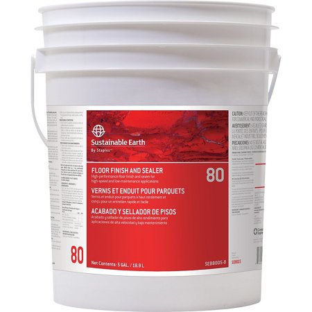 Sustainable Earth #80 Floor Care Floor Finish 5 Gallons Pail (SEB800005-D-CC) 913187