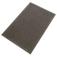 """Guardian EcoGuard Charcoal Indoor/Outdoor Rubber Wiper Mat, 24"""" x 36"""""""