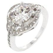 Icon Bijoux R08058R-C01-08 Antique Style Engagement Ring (Size: 08)