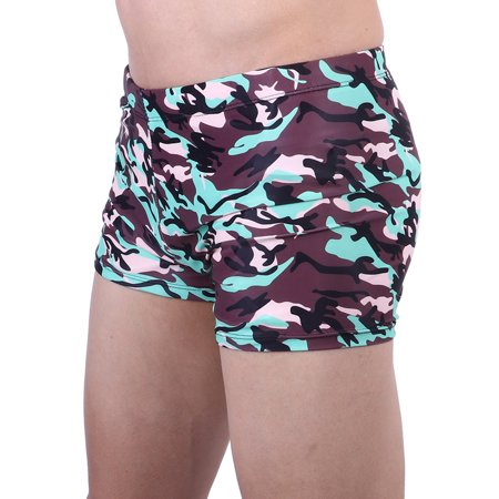 853db82f18 LELINTA Men  s Camouflage Sport Jammer Swim Trunks Quick Drying Shorts  Swimsuit Bathing Suit