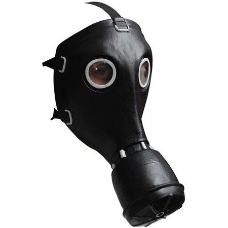 Morris Costumes TB26519 Gp-5 Gas Black Latex Mask - Halloween Costume Gas Mask