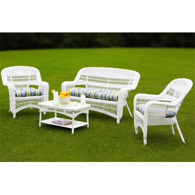 Tortuga PS4S-WHITE Portside 4 Piece Seating Set - White