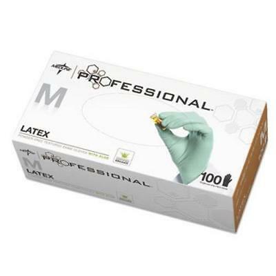 Medline Latex Exam Gloves with Aloe, Medium, Green, 100 Gloves](Latex Aloha)
