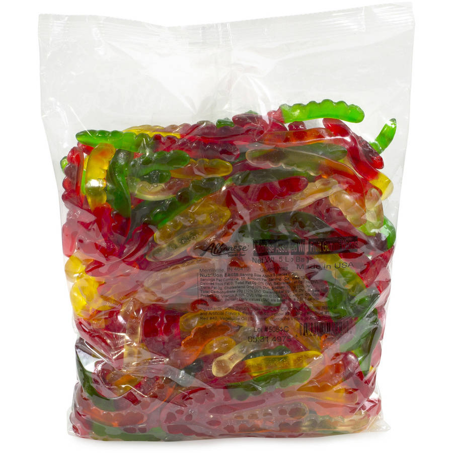 Albanese Confectionary, Assorted Flavors Gummi Worms, 5 Lb