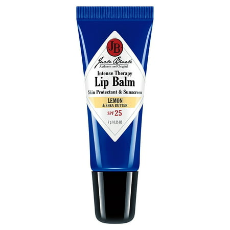 Jack Black Intense Therapy Lip Balm SPF 25 With Lemon & Shea Butter, 0.25 Oz