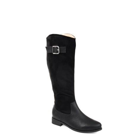 5d697dcd4bc8 Brinley Co. Womens Comfort Extra Wide Calf Two-tone Riding Boot -  Walmart.com