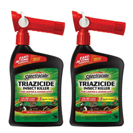 (2 pack) Spectracide Triazicide Insect Killer for Lawns & Landscapes Concentrate, Ready-to-Spray, 32-fl