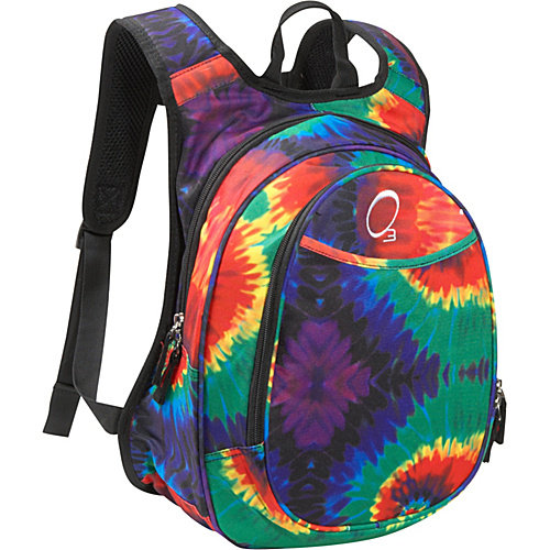 Obersee Kids Pre-School Tie-Dye Backpack with Integrated Lunch Cooler