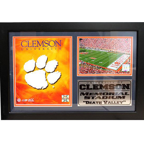 NCAA Clemson Photo Stat Frame, 12x18