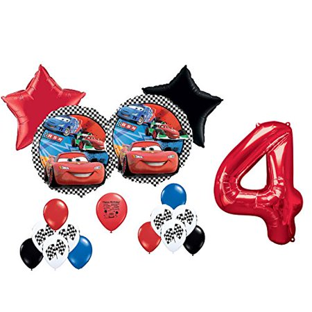 Disney Cars Party Supplies 4th Birthday Party Balloon Decoration Kit