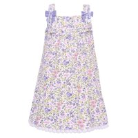9d59c1c6c Product Image Bonnie Baby Girls Lavender Floral Print Bow Accent Sleeveless  Dress