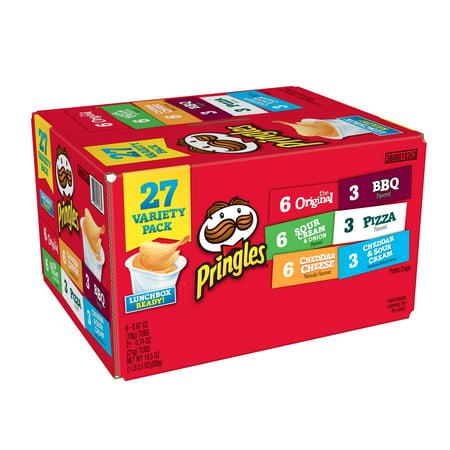 Pringles Potato Chips Variety Pack, 19.5 Oz., 27 Count