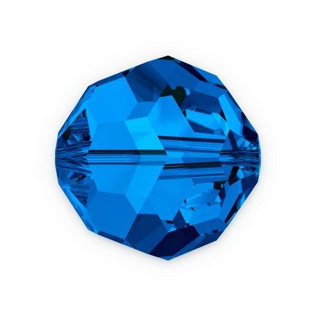 Swarovski Round Crystal Bead 5000 8mm Sapphire (Package of 3) ()