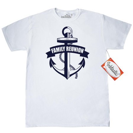 Inktastic Family Reunion Nautical Anchor T-Shirt Unite Banner Together Get Mens Adult Clothing Apparel Tees T-shirts - Family Clothes Store