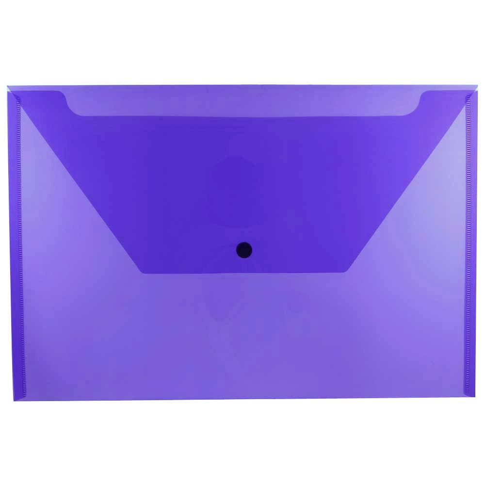 jam paper, blue letter size booklet plastic envelope with snap