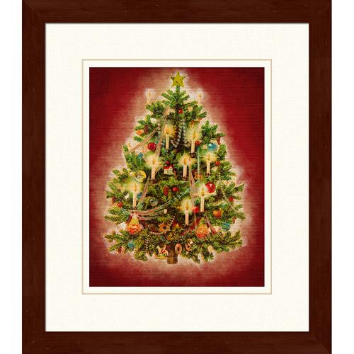 """Holiday Vintage Tree"" Framed Art"