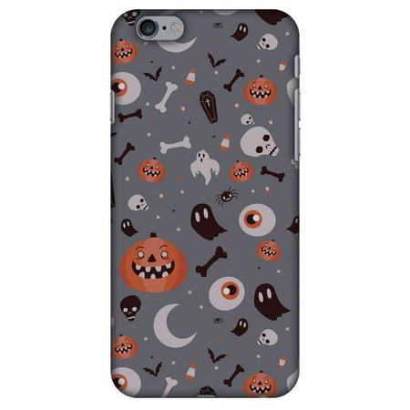 iPhone 6s Plus Case, iPhone 6 Plus Designer Case, Premium Handcrafted Printed Halloween Designer Hard ShockProof Case Back Cover for iPhone 6 Plus, iPhone 6s Plus - Freaky Grey
