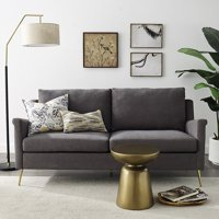 Apartment Sofa with Gold Legs, Grey