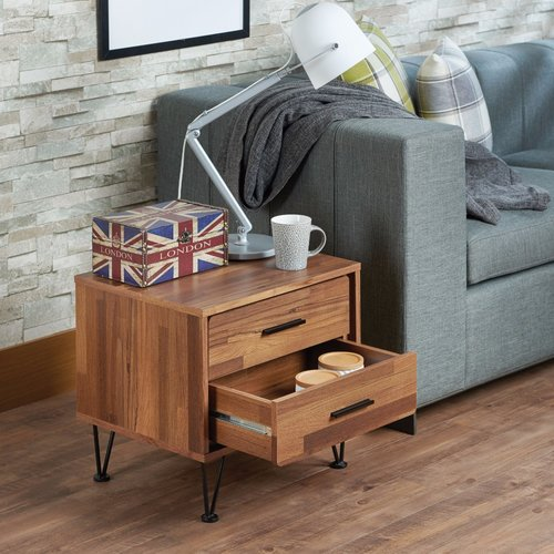 Superieur Union Rustic Laskey Contemporary 2 Drawers Nightstand