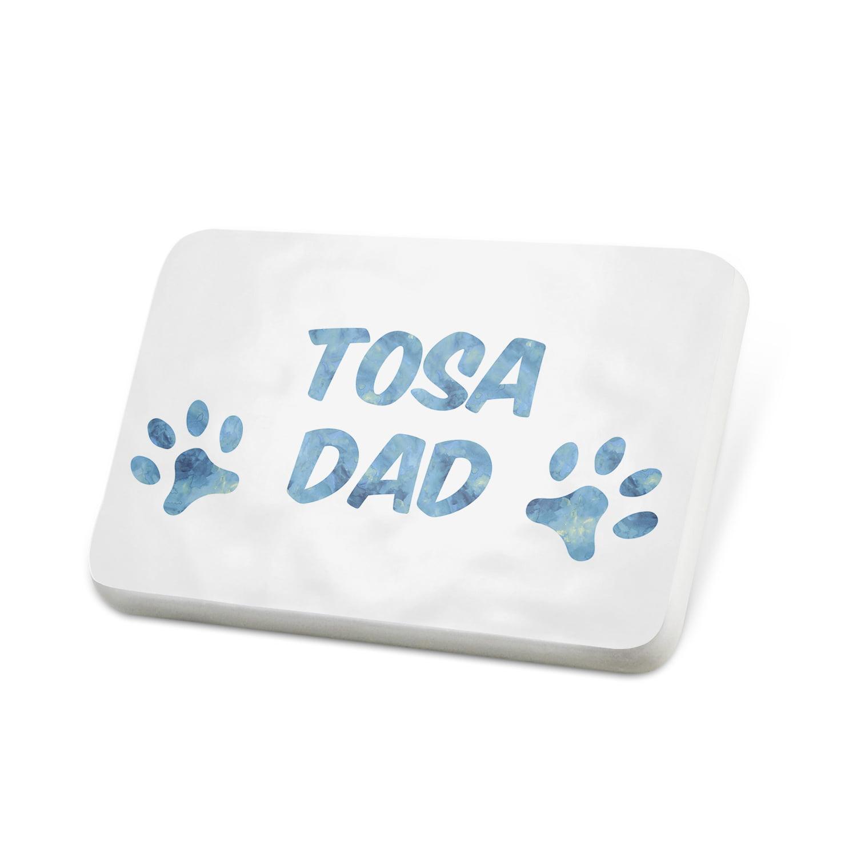 Porcelein Pin Dog & Cat Dad Tosa Lapel Badge – NEONBLOND