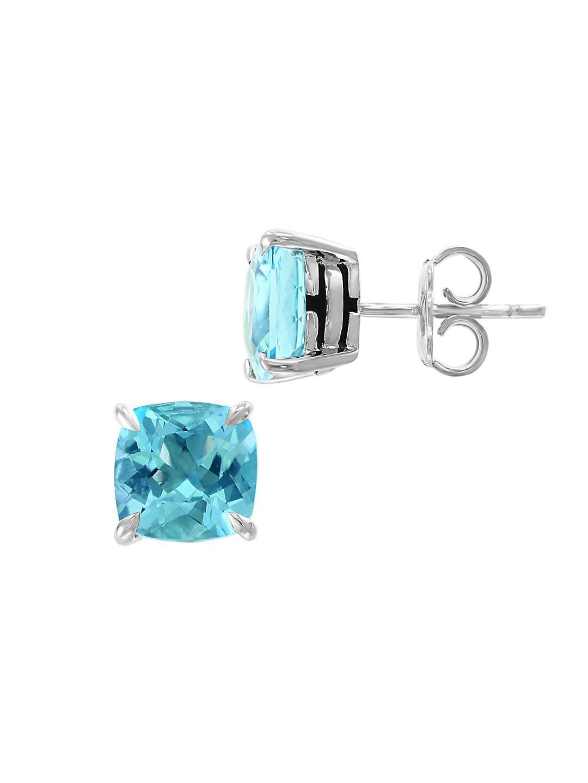 Sterling Silver & Gemstone Basket Stud Earrings