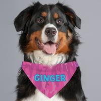 Personalized Pink Camo Dog Bandana Collar Cover