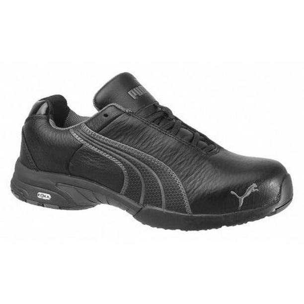 PUMA SAFETY SHOES 642855 Work Shoe, Stl, 7, BLK,PR
