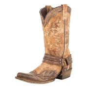 Stetson Western Boots Mens Outlaw Leather Tan 12-020-6104-0834 TA