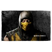 Mortal Kombat X Scorpion Beach Towel White 36X58