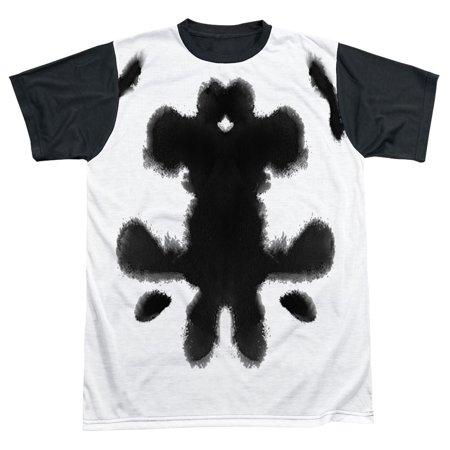 Watchmen Men's  Rorschach Sublimation T-shirt White (Rorschach Watchmen)