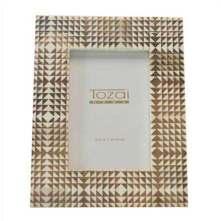 Tozai Home - 4x6 Frame - Gold Foil - Triangles