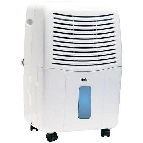 Haier 65-Pint Dehumidifier for Basements w/Drain, White,  DE65EM-L