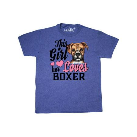 This Girl Her Boxer T-Shirt Pets Dog Doggy Cute Love I Pitbulls - Cutie Girls