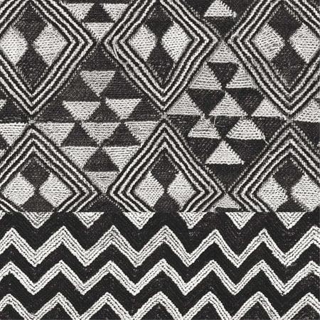 Kuba Cloth Mat II Crop BW Poster Print by Wild Apple Portfolio
