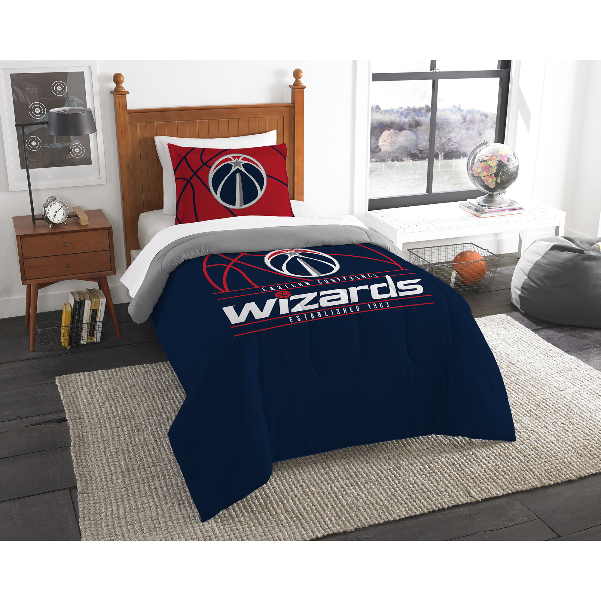 Washington Wizards The Northwest Company Reverse Slam Twin Comforter Set - No Size