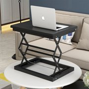 Foldable Desk Table Height Adjustable Workstation Laptop Desk Table with Steel Frames Outfits Lap Desk Personal Working Space