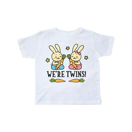 Twin Boy And Girl Bunny Gift Toddler T-Shirt (Boy Girl Twin Halloween Ideas)