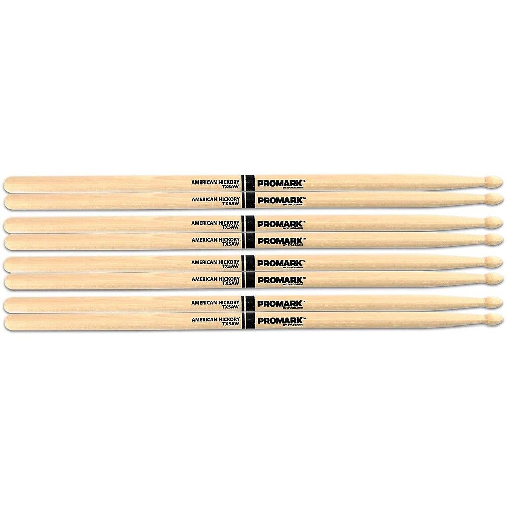 PROMARK Buy 3 Pairs of American Hickory Wood Tip 5A Sticks and Get One Pair of 5A Wood Tip Sticks Free 5A Wood Tip
