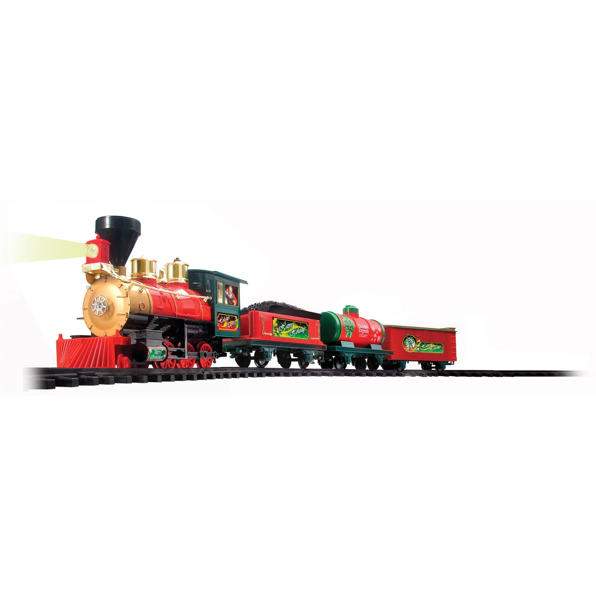 EZTEC Battery Operated Holiday Express Christmas Train Set ...