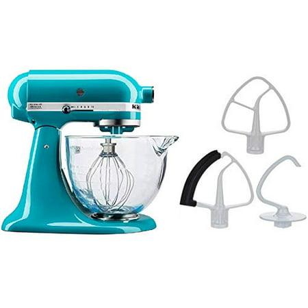 KitchenAid 5-Quart Stand Mixer Glass Bowl Ocean Drive