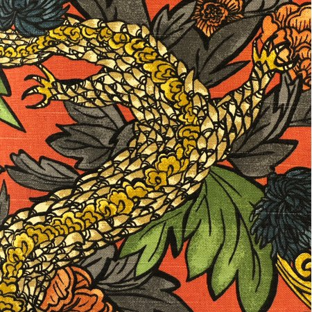 Plutus PBRA2257-2036-DP Amaryllis Dragon Multicolor Luxury Throw Pillow, 20 x 36 in. King - image 2 de 3