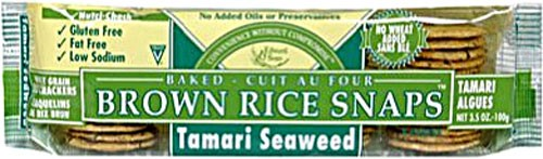 Edward & Sons Brown Rice Snaps Tamari Seaweed 3.5 Ounce by Edward & Sons