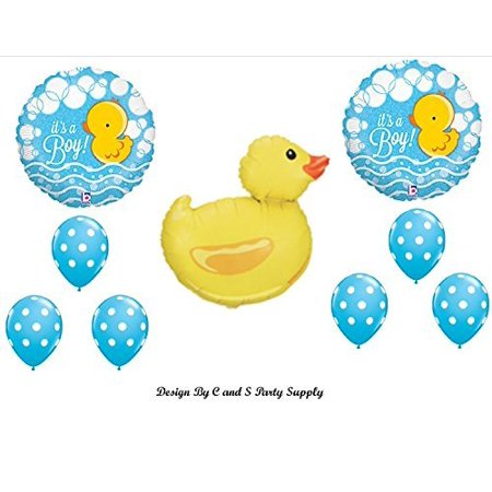 IT'S A BOY RUBBER DUCKY BABY SHOWER Balloons Decorations Supplies Duck by Anagram (Boy Baby Shower Balloons)