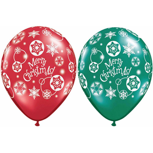Merry Christmas Latex Balloons, Pack of 50