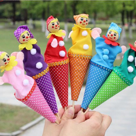 Clown Pop Up Puppets Telescopic Stick Rods Doll (Random Dilivery)](Clown Dolls)