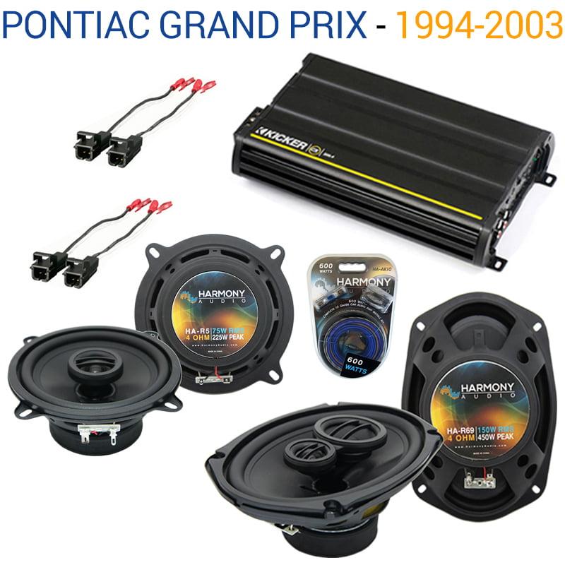 Pontiac Grand Prix 1994-2003 OEM Speaker Upgrade Harmony Speakers & CX300.4 Amp - Factory Certified Refurbished