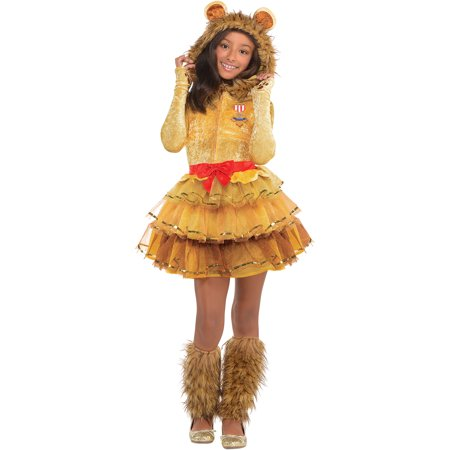 Girl Lion Costumes (Cowardly Lion Halloween Costume for Girls, Wizard of Oz,)