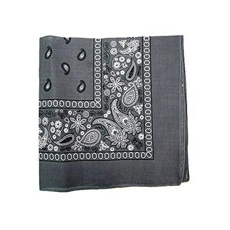 Mechaly Paisley 100% Polyester Unisex Bandanas - 8 Pack