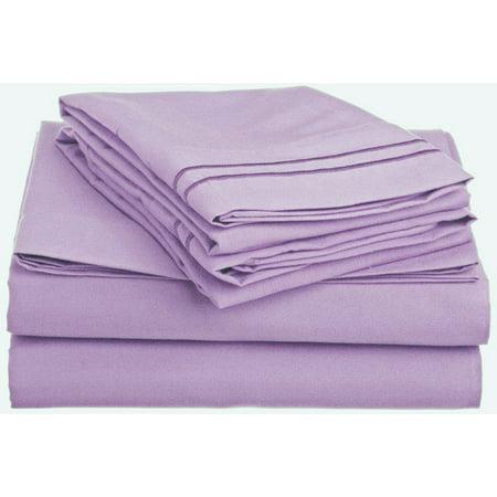 clara clark 1500 series deep pocket 4pc bed sheet set queen size lavender. Black Bedroom Furniture Sets. Home Design Ideas