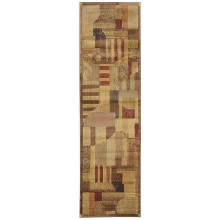 Nourison Somerset Textured Mosaic Woven Runner, 2'3